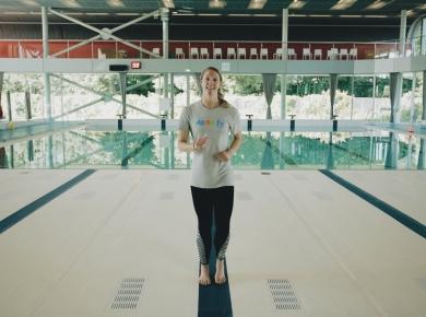 Zwemoefeningen met Hinkelien Schreuder