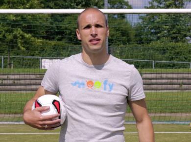 Voetballen met Arnaud Donker