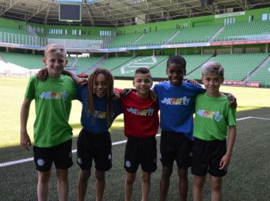 In actie met de FC Groningen boys